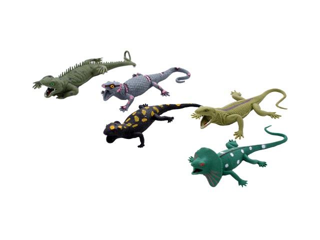 Животные, Ящерицы, резиновые, мягкие, Мир животных, в коробке, Play Smart