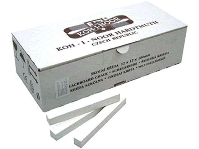 Мел белый 100 шт., 12*12*100 мм, Koh-I-Noor