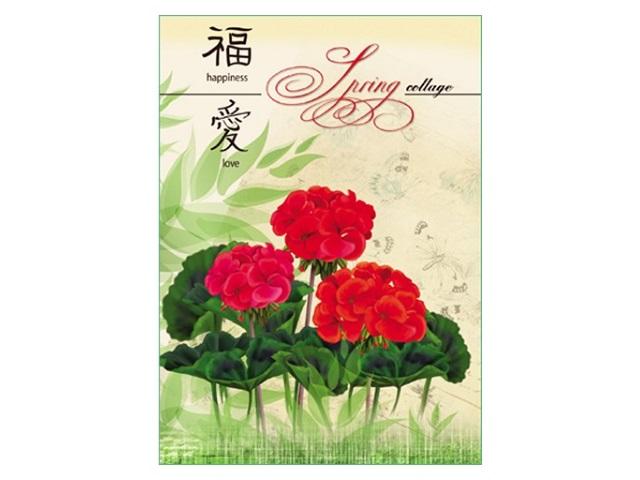 Блокнот А6, твердая обложка, 64 листа, клетка, Весенние цветы, Prof Press