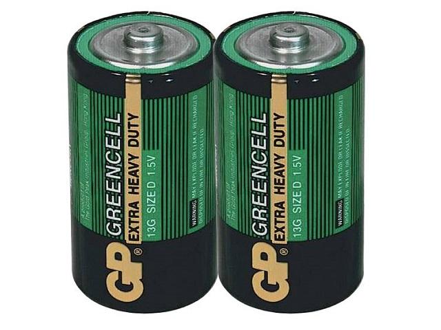 Батарейка R20 G13 1.5V солевая Greenсell, GP