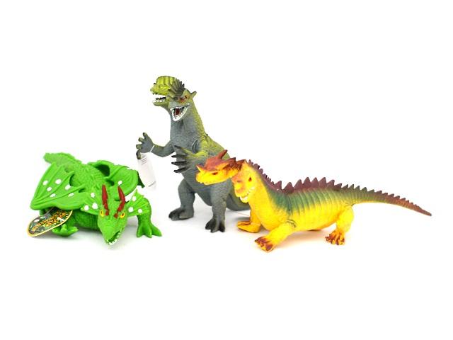 Животные, Динозавры, резиновые, мягкие, Мир Животных, в коробке, Play Smart