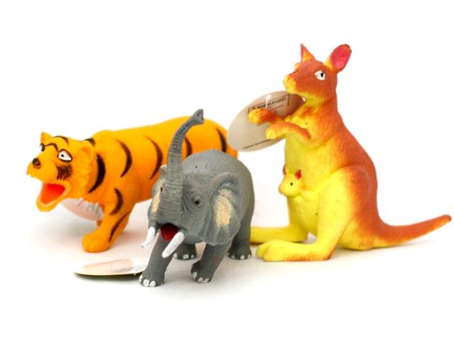 Животные, Дикие, резиновые, мягкие, Мир Животных, в коробке, Play Smart