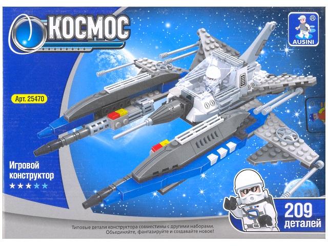 Конструктор 209 деталей, Космос, в коробке, Ausini