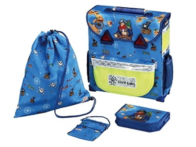 Ранец ортопедический 37*34*14 см, с пеналом, кошельком и сумкой для обуви, Пират Джек, Safe Light, Herlitz