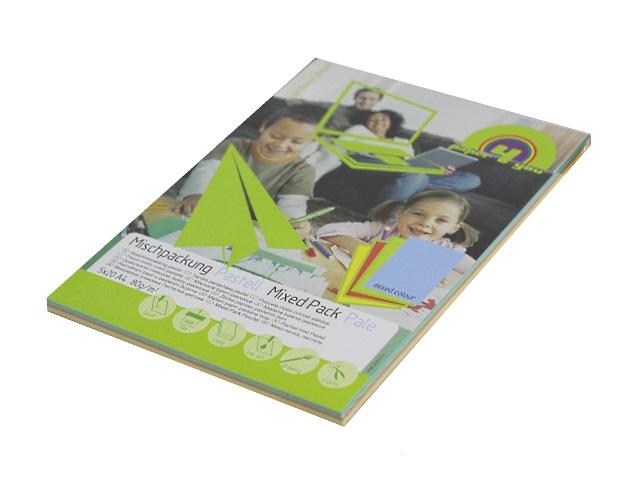 Бумага А4, 80 г/м, 5 цветов по 20 листов, пастельная, Paper4you
