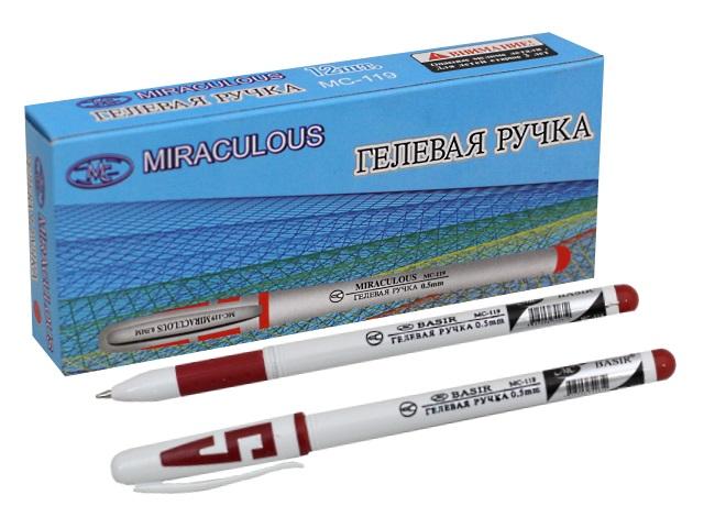 Ручка гелевая, красная, 0.5мм., Miraculous