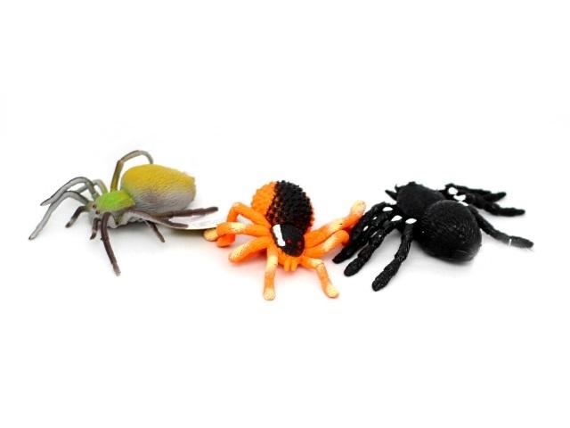 Животные, Пауки, резиновые, мягкие, Мир Животных, в коробке, Play Smart