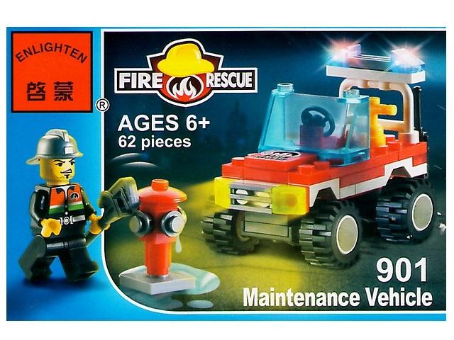 Конструктор 62 детали, Пожарная серия, в коробке, Enlighten