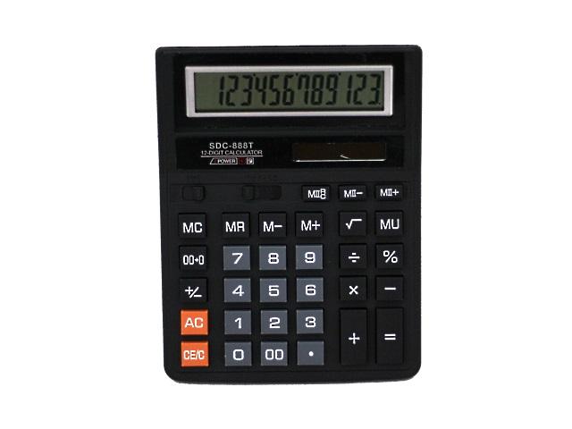 Калькулятор, 12-разрядный, черный, 20*15.5см., Basir