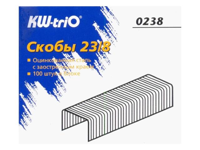 Скоба для степлера №23/8, 1000шт., Kw-Trio