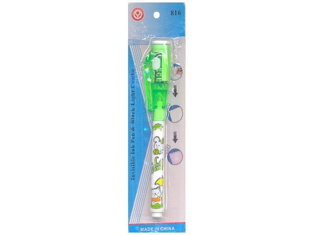 Ручка шпион, невидимые чернила, видны под ультрафиолетом, 0.7мм., блистер, Basir