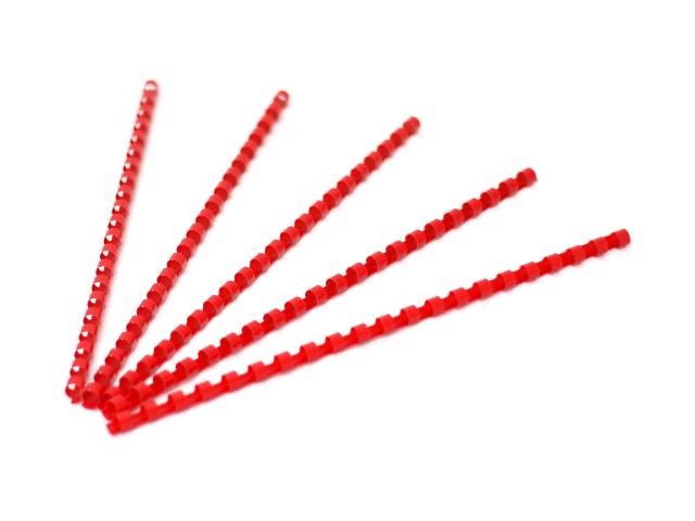 Пружины для брошюровки 8 мм красные, пластиковые, круглые, 100 шт., Fellowes, FS-53456