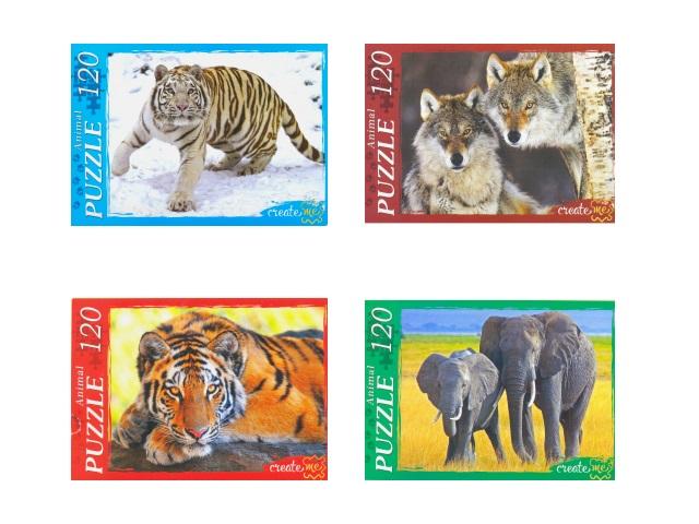 Пазлы 120 деталей В мире диких животных, в коробке, Рыжий кот П120-8292