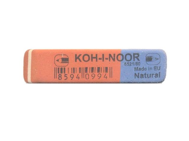 Ластик, прямоугольный, красно-синий, 60*13*7мм., Koh-I-Noor