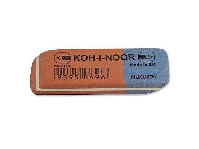 Ластик, прямоугольный, красно-синий, 57*18*7мм., Koh-I-Noor