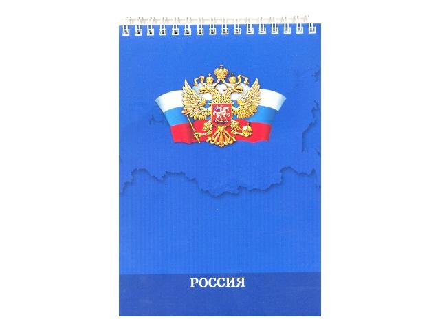 Блокнот А5, спираль сверху, мягкая обложка, 80 листов, клетка, Русский дизайн, Prof Press