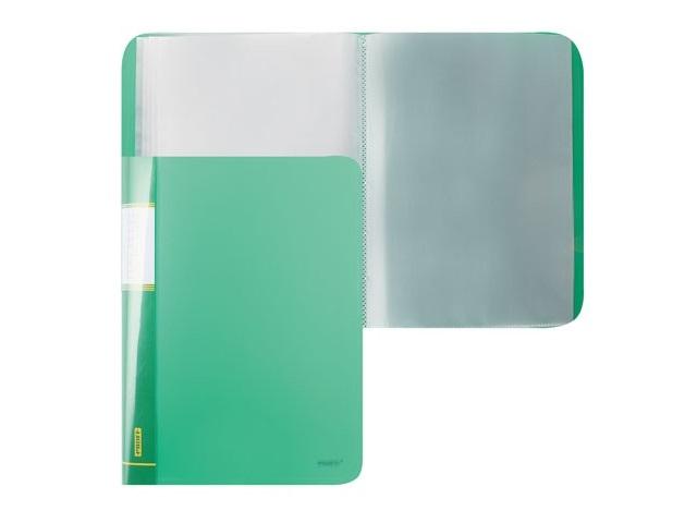 Папка с файлами 60ф., А4, зеленая, Proff Next