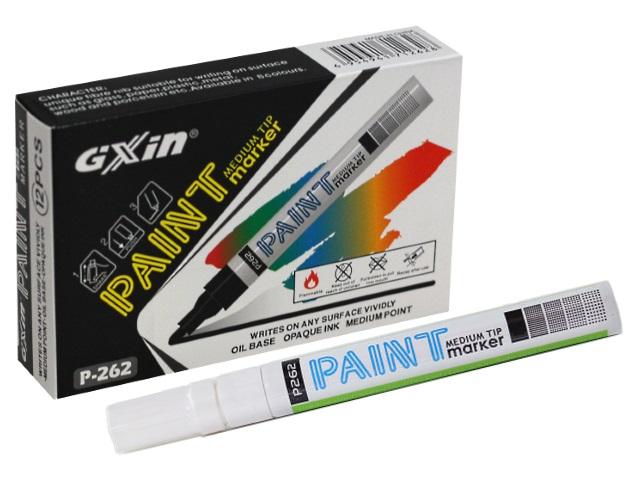 Маркер краска, белый круглый 2-4 мм, Paint Gixin, Basir P-262/12