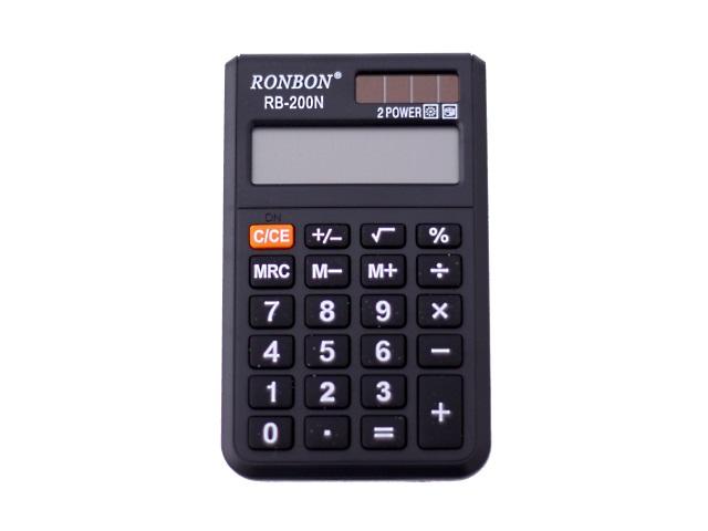 Калькулятор, 8-разрядный, черный, 10*6см., Basir