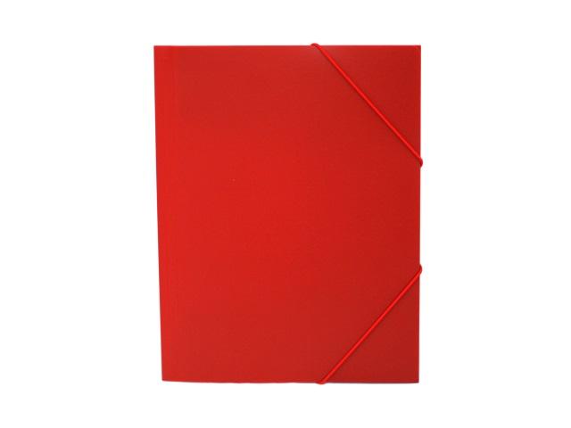Папка на резинке, А4, красная, Бюрократ