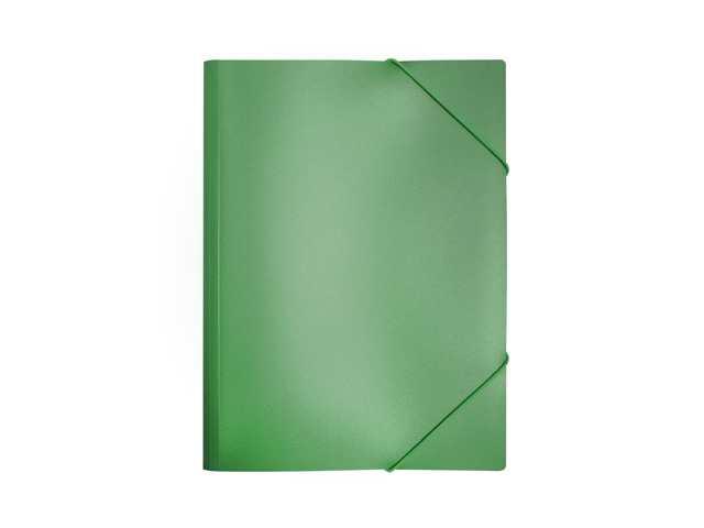 Папка на резинке, А4, зеленая, Бюрократ