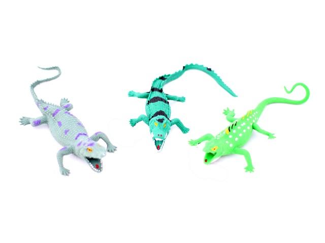 Животные, Крокодилы, резиновые, мягкие, Животный мир, в коробке, Play Smart