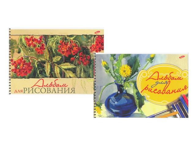Альбом 32 листа, А4 спираль сбоку, Рябина, Ваза с цветами, Академия Групп