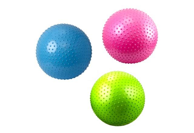 Мяч массажный, резиновый, 30см., цветной, матовый