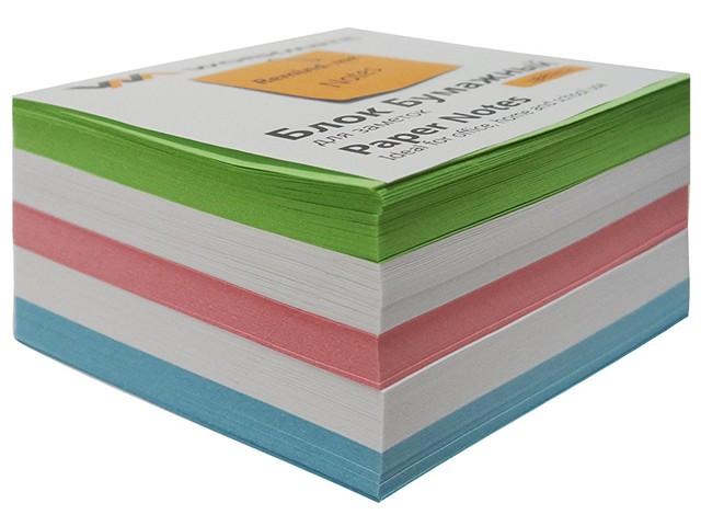 Бумага для заметок, цветная, не склеенная, 90*90 мм, 500 листов, Workmate