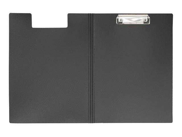 Планшет-папка А4, пластиковый, черный, Metallic, Workmate