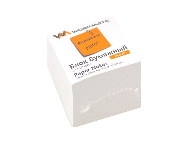 Бумага для заметок, белая, склеенная, 90*90 мм, 900 листов, Workmate
