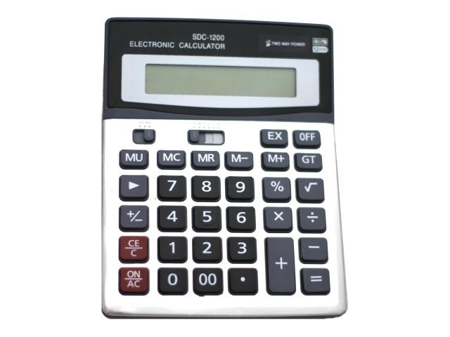 Калькулятор, 12-разрядный, серый, 19.2*14.8см., Basir