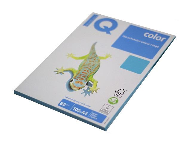 Бумага А4, 80 г/м., 100л., cветло-синяя интенсивная, IQ