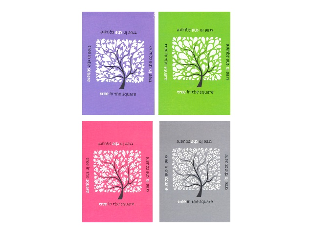 Блокнот клееный А6 Дерево в квадрате, мягкая обложка 60 листов в клетку, Полином 8с5