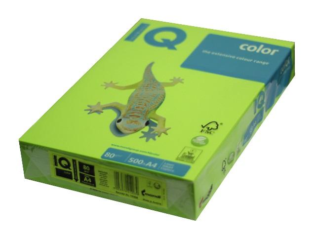 Бумага А4 80 г/м2 500 листов зеленая липа, IQ LG46