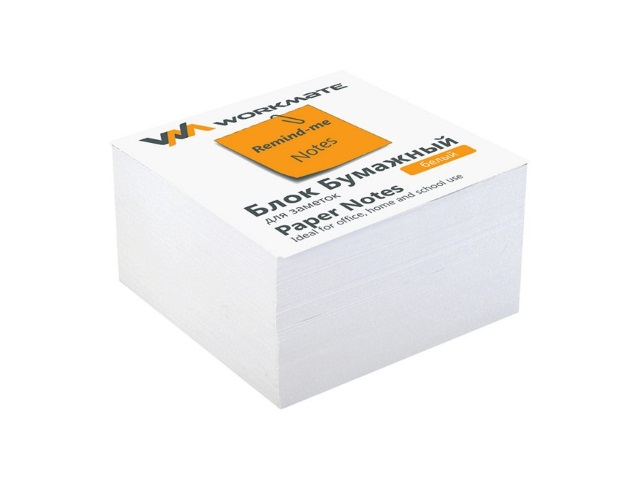 Бумага для заметок белая не склеенная 80*80 мм 400 листов, Workmate 003003600