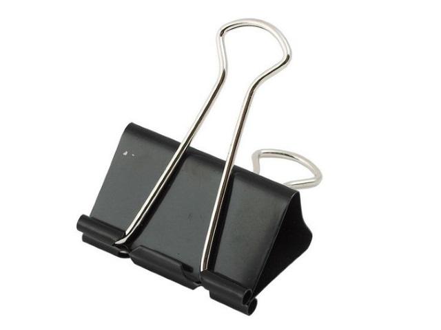Биндер 32 мм металлический черный, Attomex 4131303