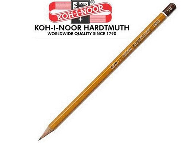 Карандаш 3В, без ластика, шестигранный, Koh-I-Noor