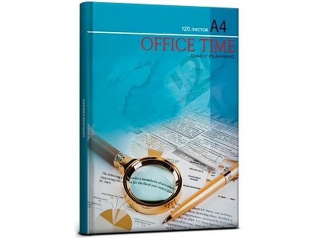 Книга канцелярская А4, 120 листов, твердая обложка, Рабочие детали