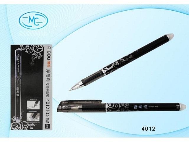 Ручка пиши-стирай, гелевая, черная, 0.5мм., Aigou
