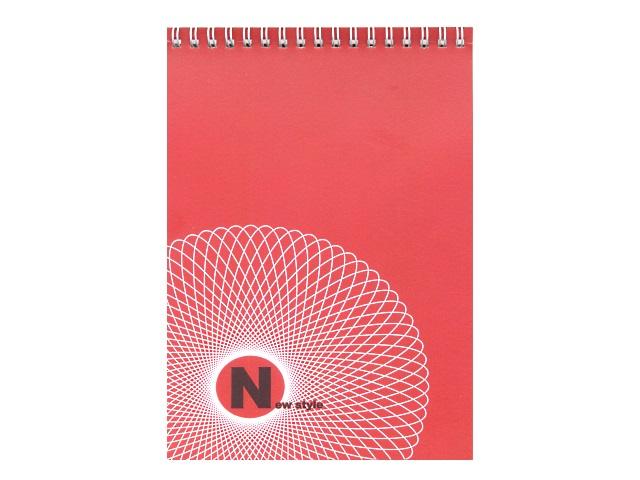 Блокнот А5, спираль сверху, мягкая обложка, 48 листов, чистый блок, New Style, Лилия Холдинг