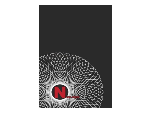 Альбом-блокнот 48 листов, А4, 21*29.7 см, на спирали сверху, картонная обложка, New Style, черный, бумага офсет, Лилия Холдинг