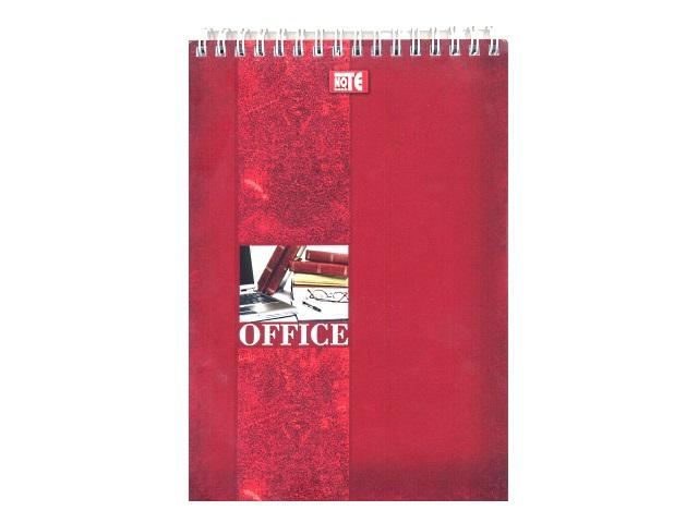 Блокнот А5, спираль сверху, мягкая обложка, 80 листов, клетка, Для офиса, Prof Press