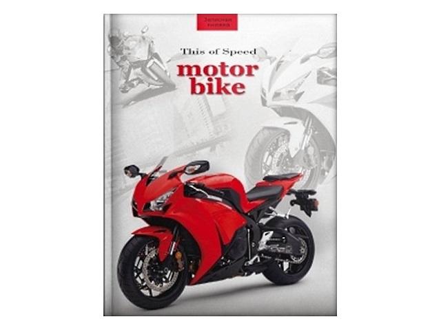 Блокнот А6, твердая обложка, 64 листа, клетка, Быстрый мотоцикл, Prof Press