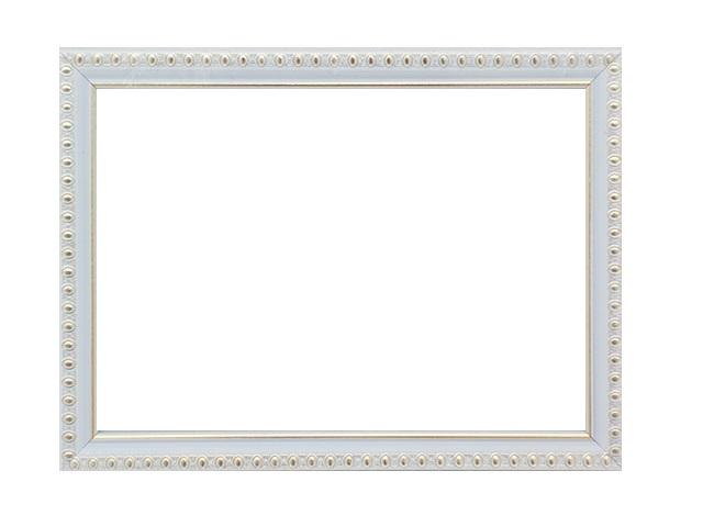 Фоторамка 21*30 см пластиковая белая с узором, арт. 118-1105