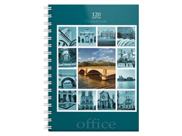 Книга канцелярская А4, 120 листов, спираль сбоку, твердая обложка, Париж, Prof Press