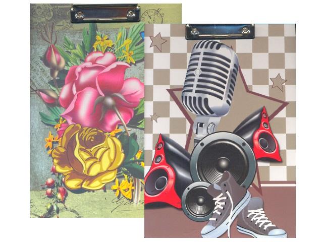 Планшет А4, ламинированный картон, Ретро, Цветы, Музыка, Josef Otten