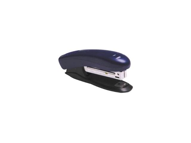 Степлер №10, 10л., пластиковый, черно-синий, с антистеплером, DeVente
