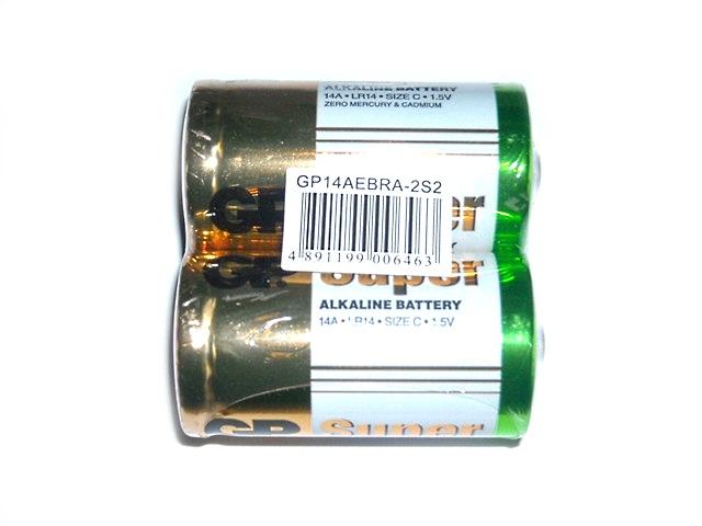 Батарейка LR14 1.5V щелочная Super, GP