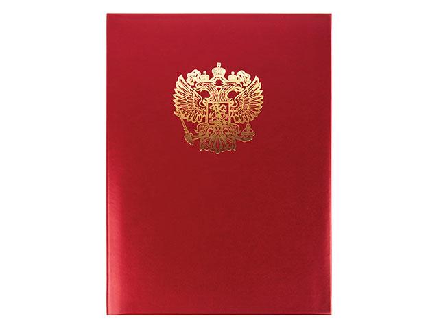 """Папка адресная """"Орел"""", А4, бумвинил, красная, Имидж"""